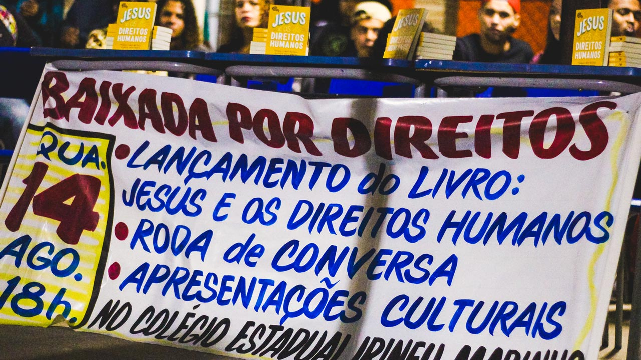 Lançamento do livro Jesus e os Direitos Humanos, do projeto Usina de Valores, no Rio de Janeiro