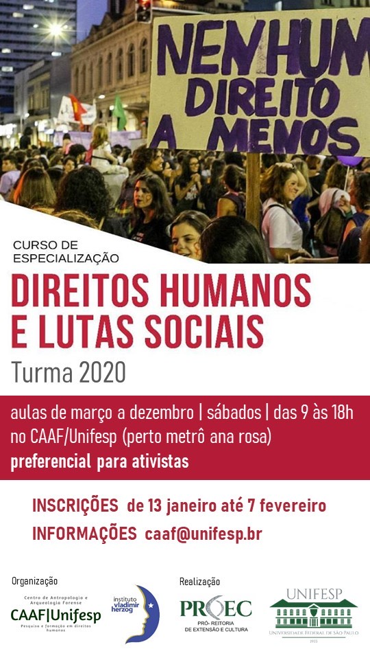 Curso de Especialização em Direitos Humanos e Lutas Sociais