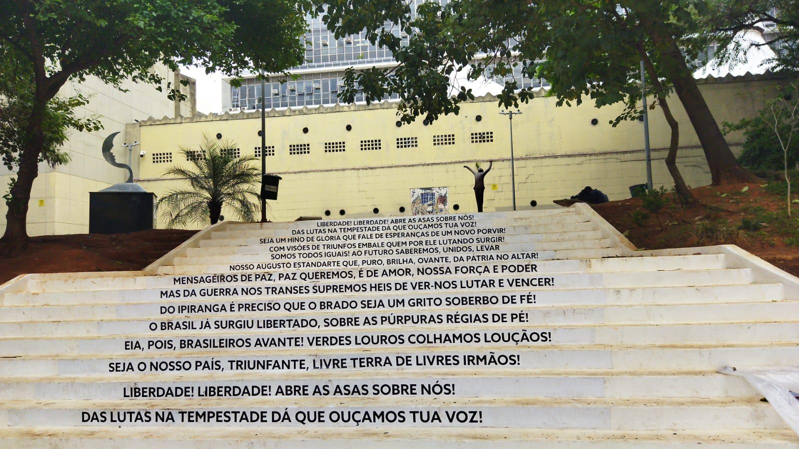 Escadaria da Liberdade é inaugurada na Praça Vladimir Herzog